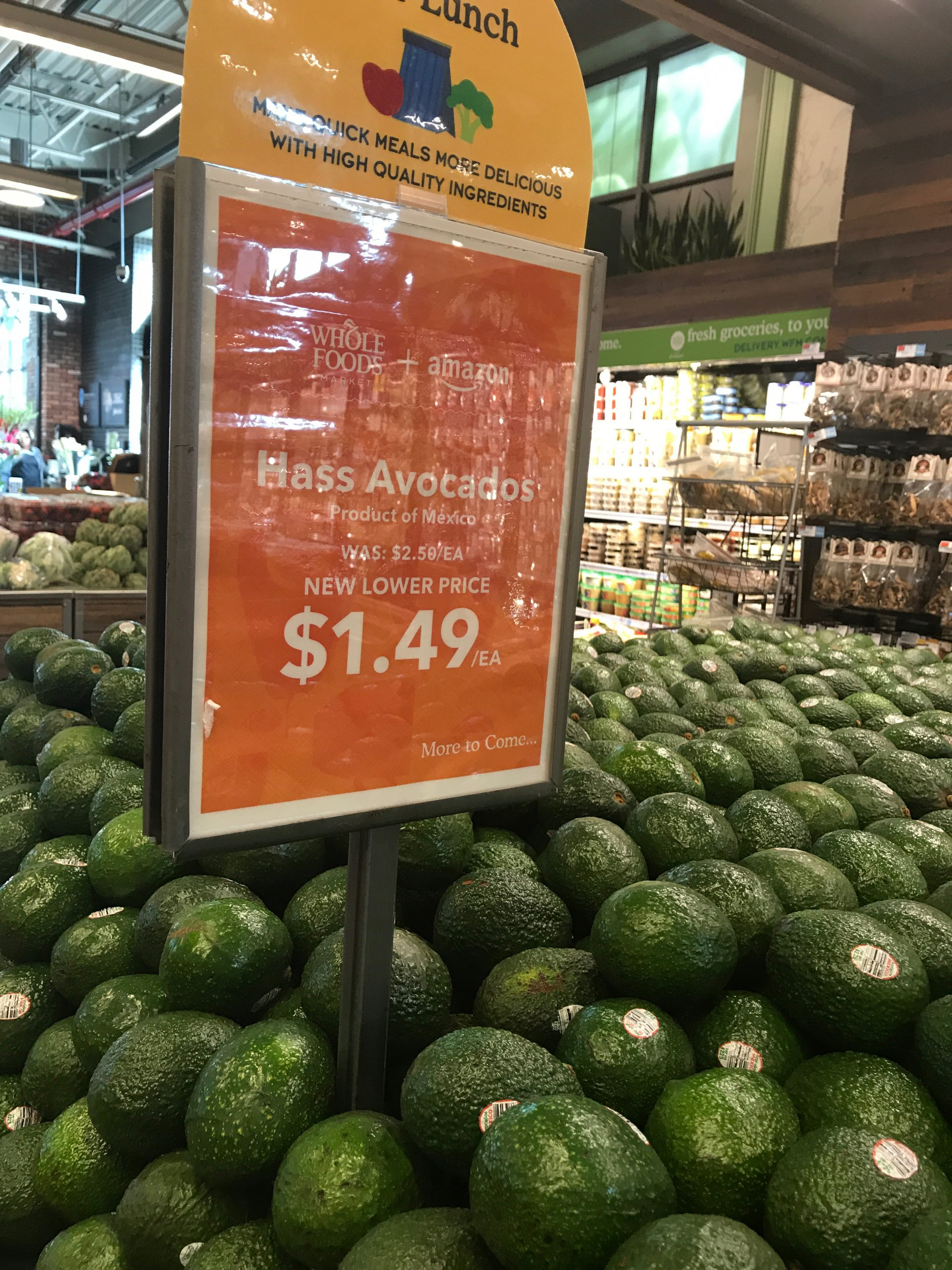 Initial observations of the Amazon-Whole Foods marraige