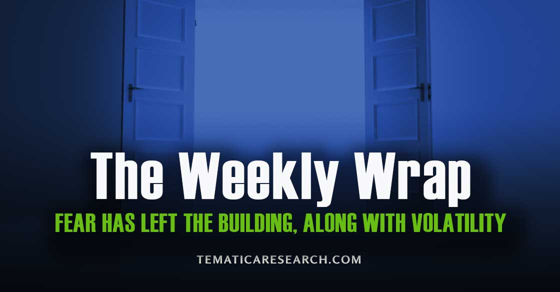 WEEKLY WRAP: Fear and Volatility Have Left the Building