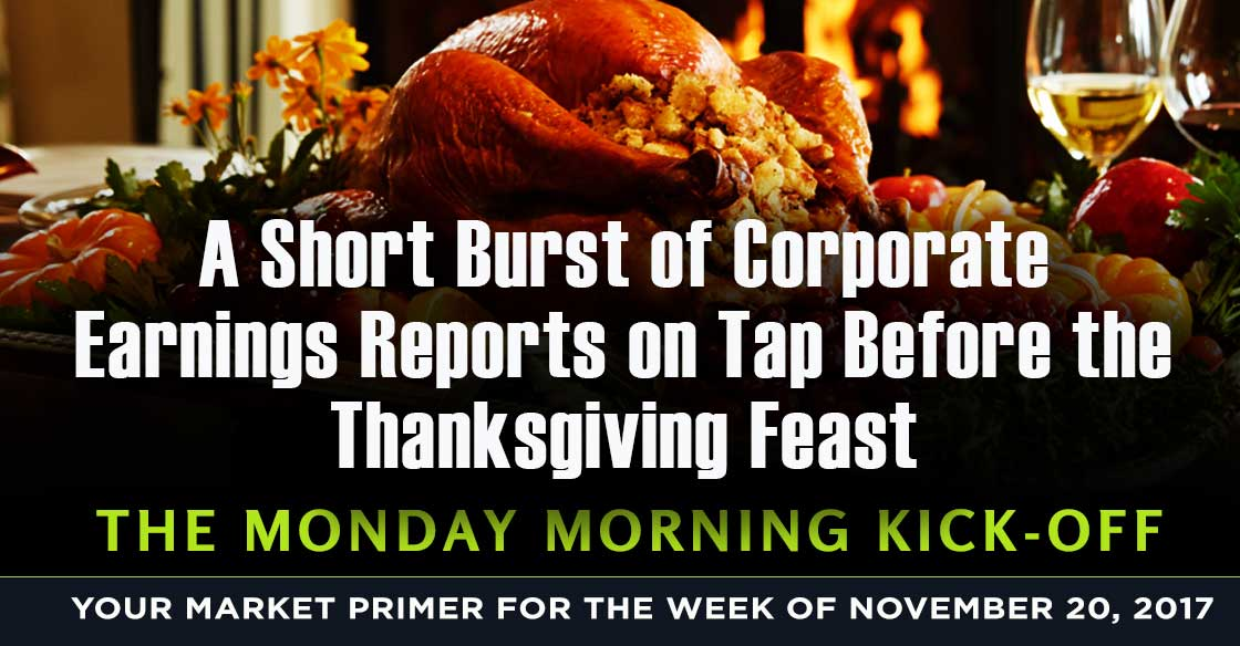 A Short Burst of Corporate Earnings Reports on Tap Before the Thanksgiving Feast
