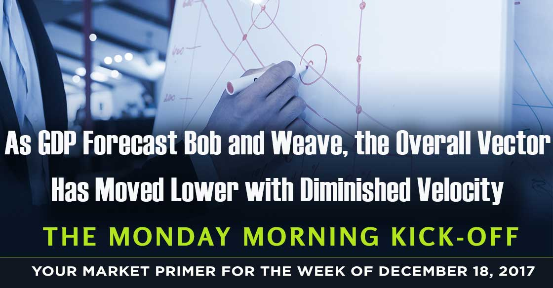 As GDP Forecast Bob and Weave, the Overall Vector Has Moved Lower with Diminished Velocity