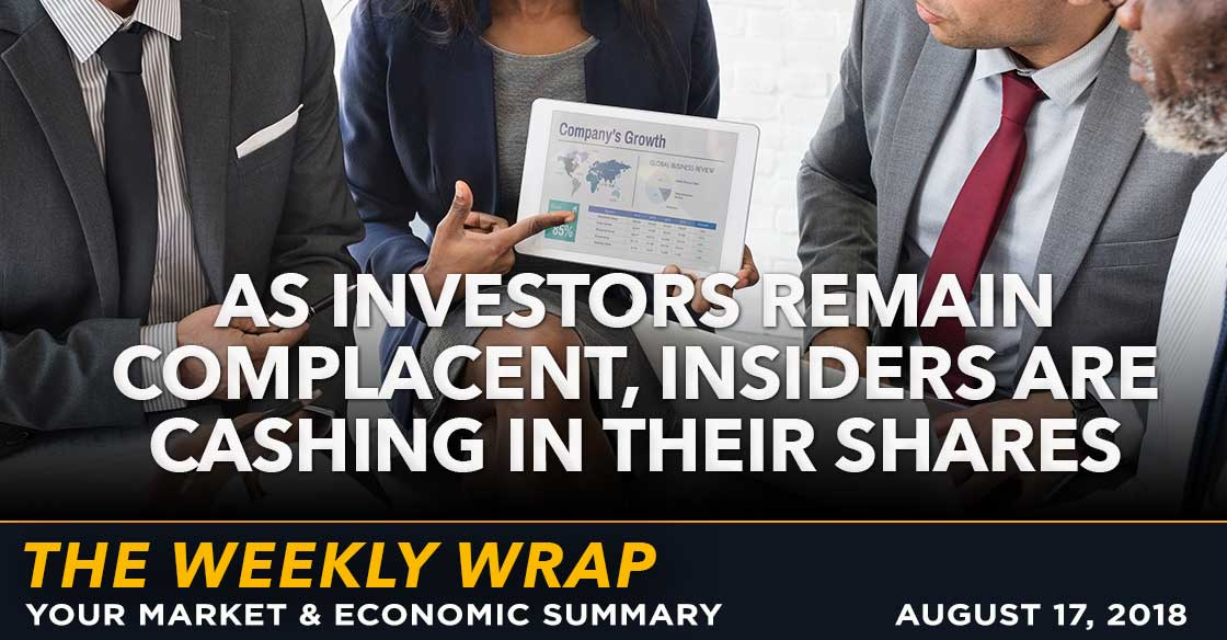 Weekly Wrap: As Investors Remain Complacent, Insiders are Cashing in Their Shares