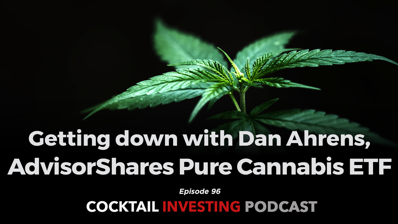 Ep 102: Getting down with Dan Ahrens, AdvisorShares Pure Cannabis ETF